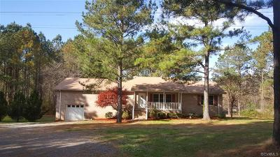 Dinwiddie County Single Family Home For Sale: 4416 White Oak Road