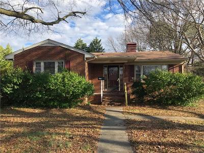 Colonial Heights Single Family Home For Sale: 608 Compton Road