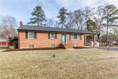 Dinwiddie Single Family Home For Sale: 2048 Fortview Drive