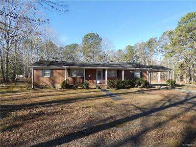 Dinwiddie County Single Family Home For Sale: 8926 Dabney Drive
