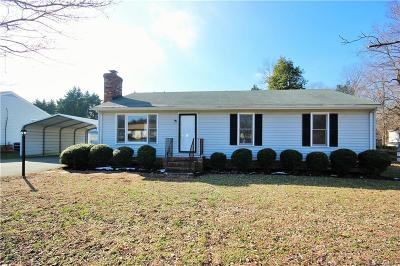 Mechanicsville VA Single Family Home For Sale: $192,500