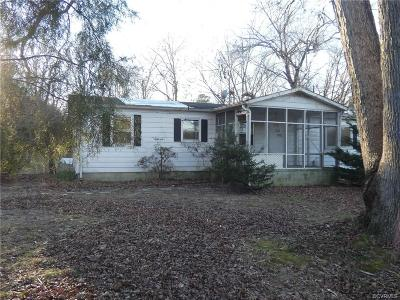 Chesterfield VA Single Family Home For Sale: $79,900
