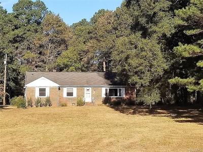 Petersburg Single Family Home For Sale: 17010 S Crater Road
