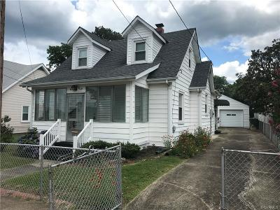 Hopewell Single Family Home For Sale: 2212 Lynchburg Street