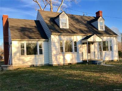 King William County Single Family Home For Sale: 1278 Mt Pleasant Road