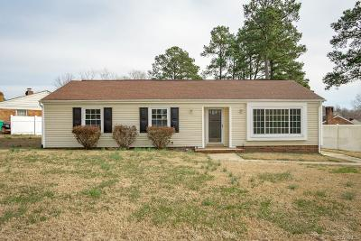 Colonial Heights VA Single Family Home For Sale: $189,900