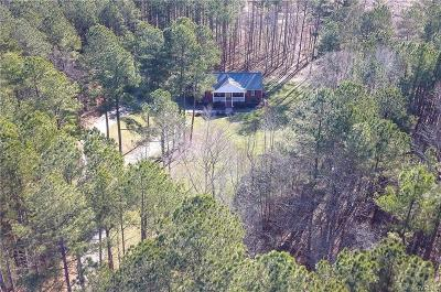 Dinwiddie Single Family Home For Sale: 18971 Hawkins Church Road