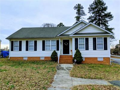 Colonial Heights VA Single Family Home For Sale: $180,000