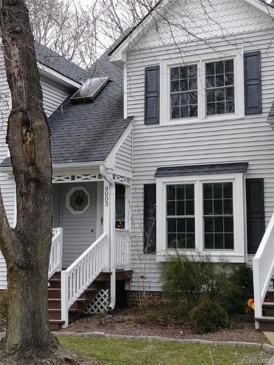 Chesterfield Condo/Townhouse For Sale: 8003 Buford Commons
