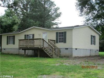 Amelia County Single Family Home For Sale: 15350 Wright