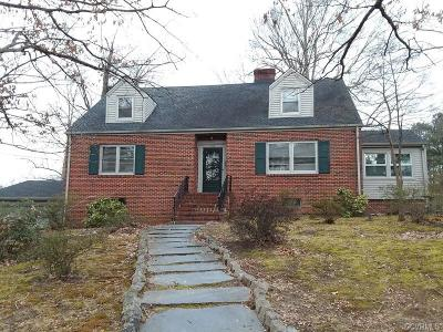 Colonial Heights VA Single Family Home For Sale: $225,000