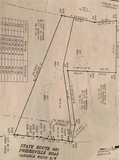 Amelia County Residential Lots & Land For Sale: Pridesville Road