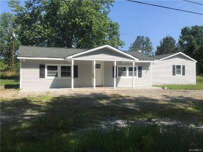 Single Family Home For Sale: 19418 Boydton Plank Road