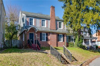 Richmond Single Family Home For Sale: 2912 Hawthorne Avenue