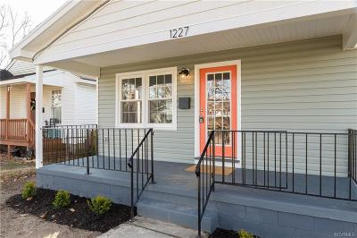 Richmond Single Family Home For Sale: 1227 North 38th Street
