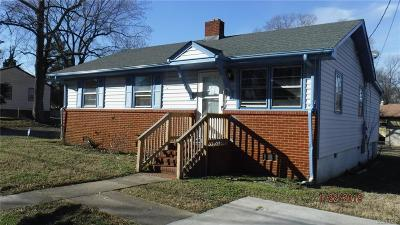 Hopewell Single Family Home For Sale: 2211 Freeman Street