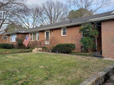 Colonial Heights Single Family Home For Sale: 610 Compton Road