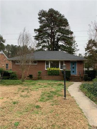 Petersburg Single Family Home For Sale: 746 Hampton Road