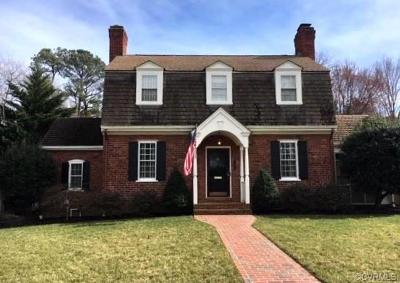 Richmond Single Family Home For Sale: 1403 Peachtree Boulevard