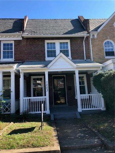 Richmond Single Family Home For Sale: 1203 S Meadow Street