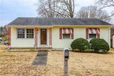 Hopewell Single Family Home For Sale: 2400 Petersburg Street