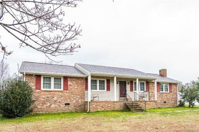 Dinwiddie Single Family Home For Sale: 12602 Cox Road