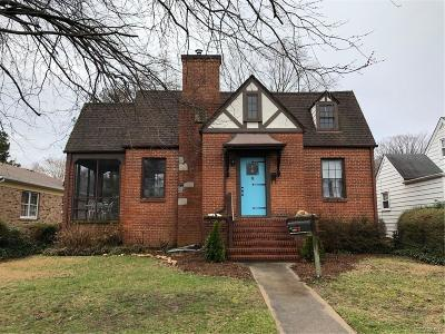 Richmond Single Family Home For Sale: 4807 Hanover Avenue