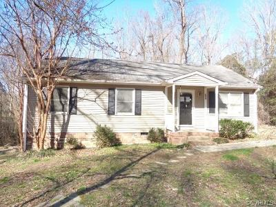 King William County Single Family Home For Sale: 695 Mount Pleasant Road