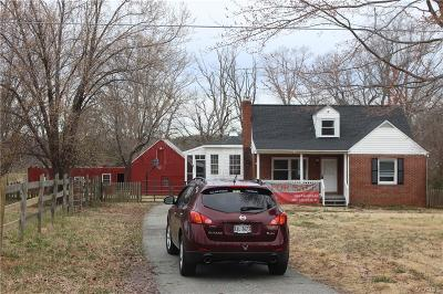 Powhatan County Single Family Home For Sale: 2283 Mill Road
