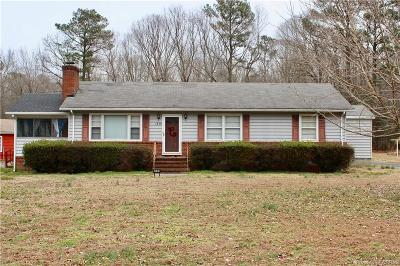Heathsville Single Family Home For Sale: 1536 Folly Road