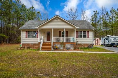 Dinwiddie Single Family Home For Sale: 12432 Duncan Road