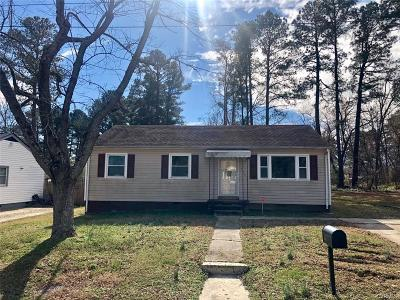 Hopewell Single Family Home For Sale: 2906 Clingman Street