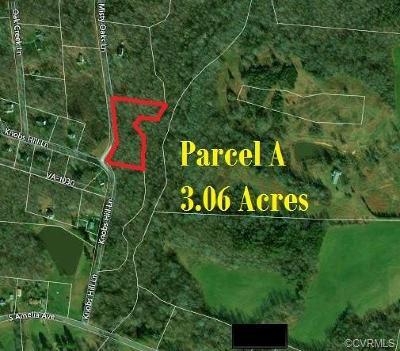 Amelia County Land For Sale: 3 Acres Misty Oaks Lane