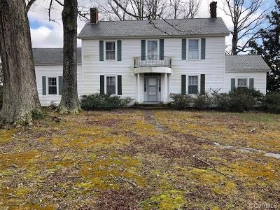 Dinwiddie County Single Family Home For Sale: 5513 Cox Road