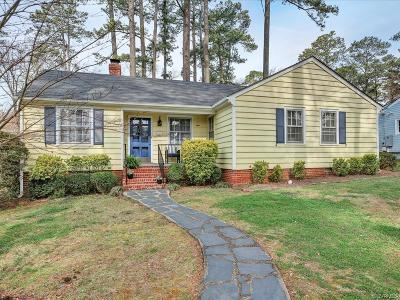 Henrico County Single Family Home For Sale: 1408 Chowan Road