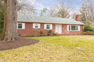 Richmond Single Family Home For Sale: 2625 Wyndham Drive