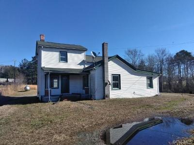 Crewe Single Family Home For Sale: 3138 Rocky Ford Road