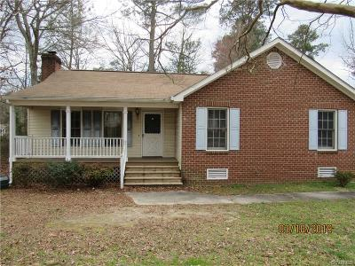 Chesterfield VA Single Family Home For Sale: $132,000