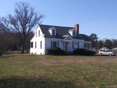 King William Single Family Home For Sale: 351 Sharon Road