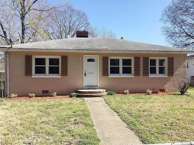 Dinwiddie Single Family Home For Sale: 3304 Western Street