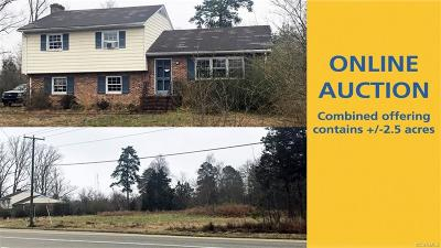 Midlothian Single Family Home For Sale: 807 & 815 Old Hundred Road