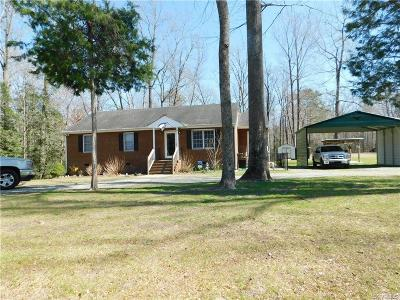 King William Single Family Home For Sale: 5754 Richmond Tappahannock Highway
