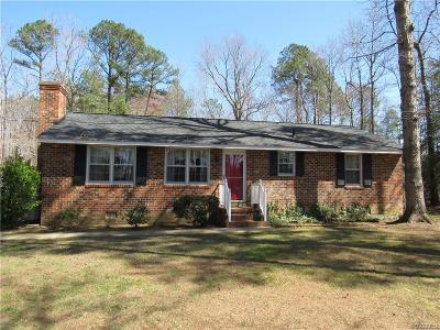 Charles City Single Family Home For Sale: 5720 Barnetts Road