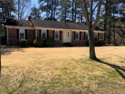 Dinwiddie Single Family Home For Sale: 10909 Vaughan Road