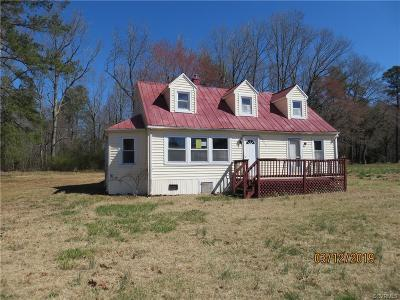 Charles City Single Family Home For Sale: 3900 Wayside Road