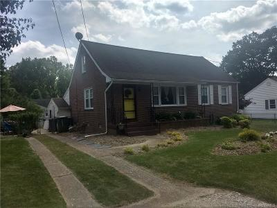 Hopewell VA Single Family Home Sold: $127,000