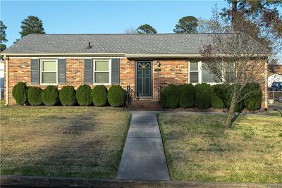 Colonial Heights VA Single Family Home For Sale: $149,500