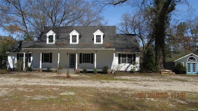 Single Family Home For Sale: 19905 Rowanty Road