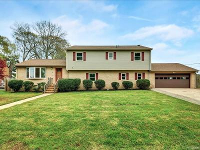 Colonial Heights, Hopewell, Prince George Single Family Home For Sale: 105 Breezy Hill Drive