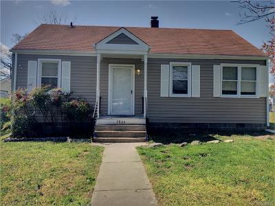 Richmond Single Family Home For Sale: 2806 Hartman Street